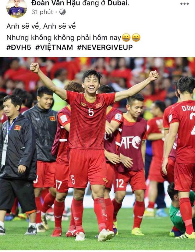 Các cầu thủ Việt Nam khẳng định: Anh sẽ về nhưng không phải hôm nay - Ảnh 4.