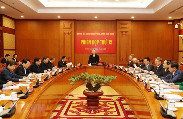 Phiên họp thứ 15 của Ban Chỉ đạo Trung ương về phòng, chống tham nhũng - Ảnh 1.
