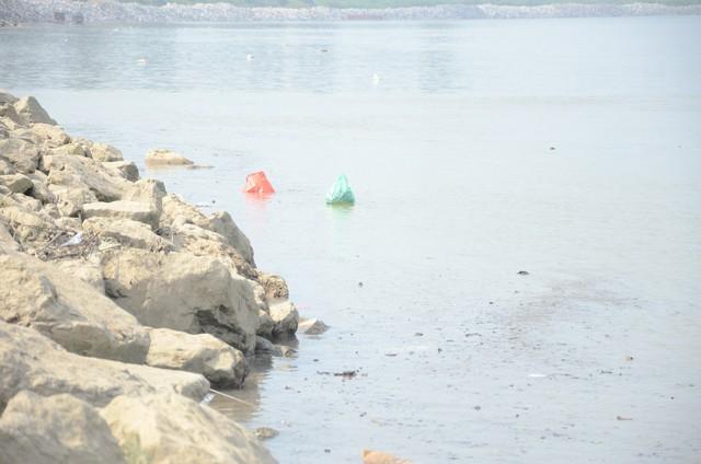 Hà Nội: Người dân đổ xô thả cá chép tiễn ông Táo về trời, rác tràn trên bến sông   - Ảnh 14.