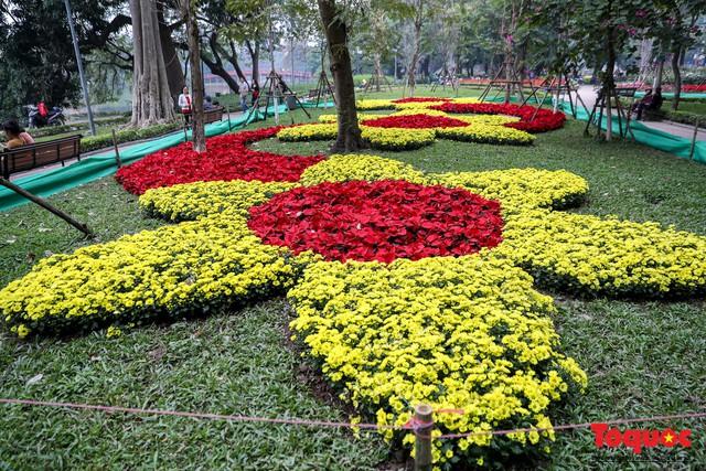 Hà Nội làm heo khổng lồ bằng cây xanh đón Tết Kỷ Hợi 2019 - Ảnh 7.
