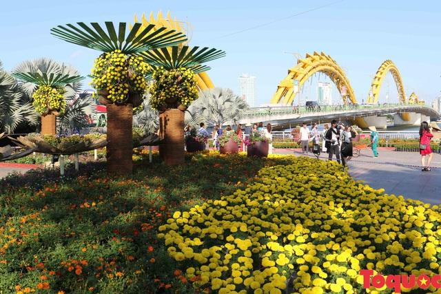Người dân và du khách mê mẩn đường hoa Đà Nẵng Tết Kỷ Hợi 2019 - Ảnh 17.
