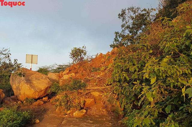 Hình ảnh đất đá sạt lở chắn ngang đường trên bán đảo Sơn Trà - Ảnh 11.
