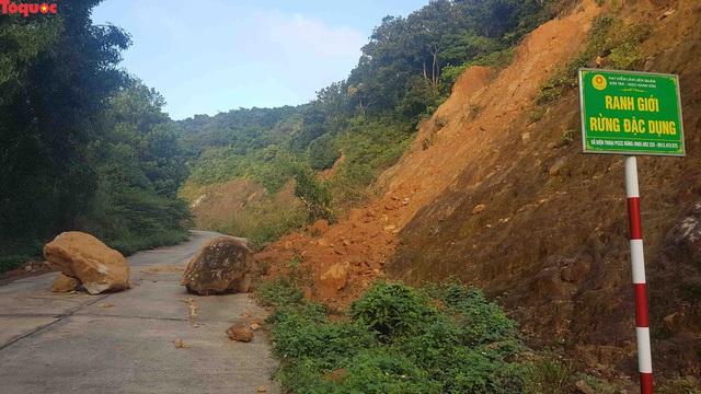 Hình ảnh đất đá sạt lở chắn ngang đường trên bán đảo Sơn Trà - Ảnh 1.