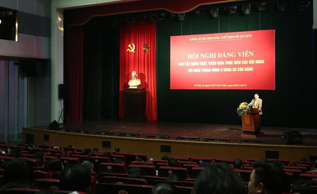 Đảng ủy Bộ VHTTDL tổ chức Hội nghị quán triệt các nội dung Hội nghị lần thứ 8 BCH Trung ương Đảng khóa XII - Ảnh 1.