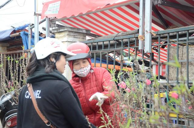 Bất chấp mưa lạnh, người Hà Nội vẫn tìm về chợ hoa Quảng Bá để chơi đào sớm - Ảnh 11.