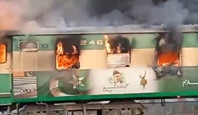 Pakistan: Thảm kịch đường sắt chỉ vì đem bếp gas nấu ăn lậu trên tàu - Ảnh 2.