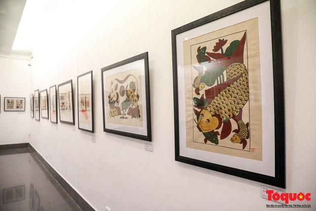 """Khai mạc triển lãm """"Tranh dân gian Đông hồ xưa và nay"""": Trưng bày hơn 100 hiện vật của tranh dân gian Đông Hồ - Ảnh 10."""