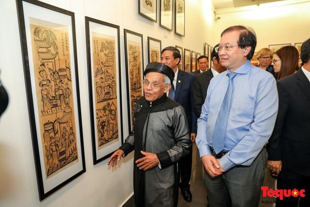 """Khai mạc triển lãm """"Tranh dân gian Đông hồ xưa và nay"""": Trưng bày hơn 100 hiện vật của tranh dân gian Đông Hồ - Ảnh 8."""