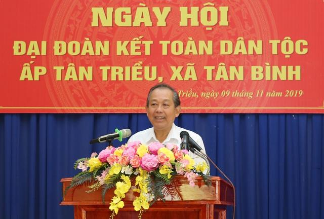 Phó Thủ tướng Trương Hòa Bình dự Ngày hội Đại đoàn kết toàn dân tộc tại Đồng Nai - Ảnh 1.