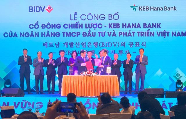 Tập đoàn Tài chính Hana là đối tác chiến lược của BIDV - Ảnh 1.