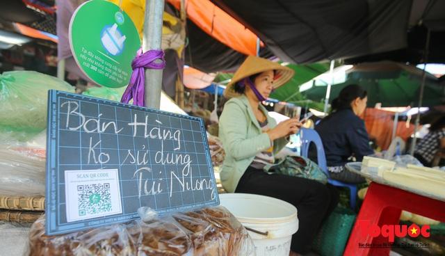 Khu chợ nói không dùng túi nilon đầu tiên tại miền Bắc - Ảnh 11.