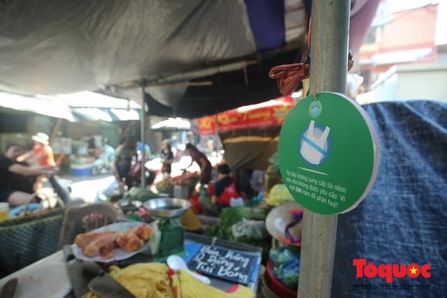Khu chợ nói không dùng túi nilon đầu tiên tại miền Bắc - Ảnh 9.