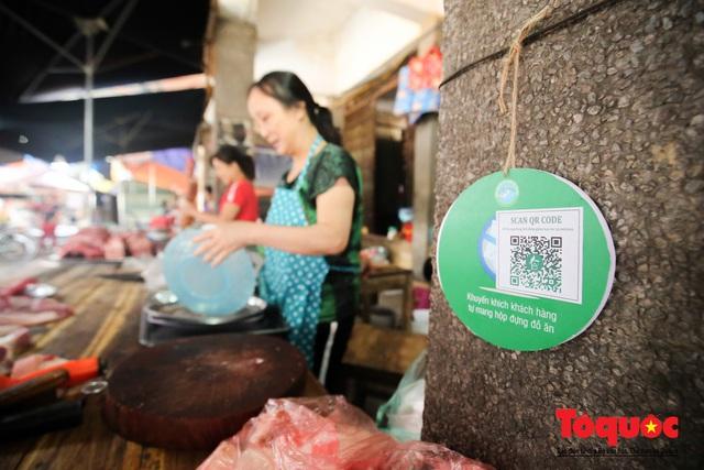 Khu chợ nói không dùng túi nilon đầu tiên tại miền Bắc - Ảnh 8.