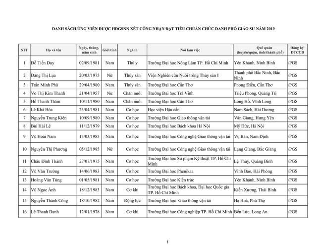 Tiếp tục có 17 ứng viên không đạt tiêu chuẩn xét chức danh giáo sư, phó giáo sư năm 2019 của HĐGSNN - Ảnh 7.