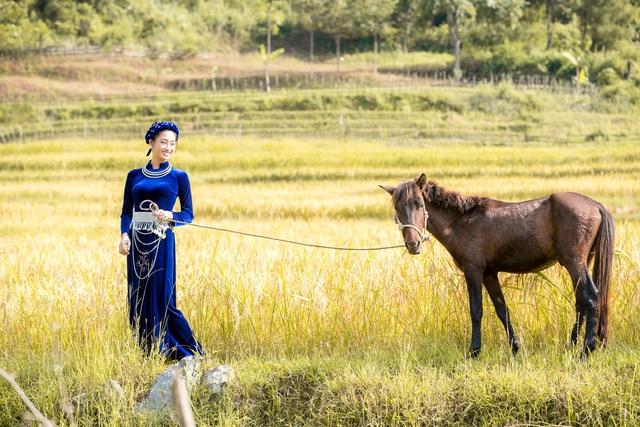 Hoa hậu Lương Thùy Linh hóa thiếu nữ dân tộc Tày đi chăn ngựa - Ảnh 1.