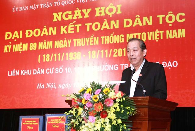 Phó Thủ tướng Trương Hòa Bình: Mỗi người dân, mỗi cộng đồng dân cư cần phát huy truyền thống đoàn kết, chung sức, đồng lòng - Ảnh 1.