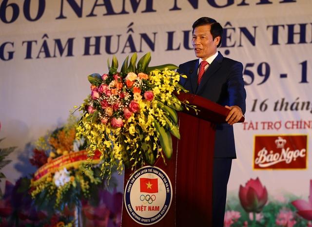 Bộ trưởng Nguyễn Ngọc Thiện phát biểu tại buổi lễ. Ảnh: Nam Nguyễn