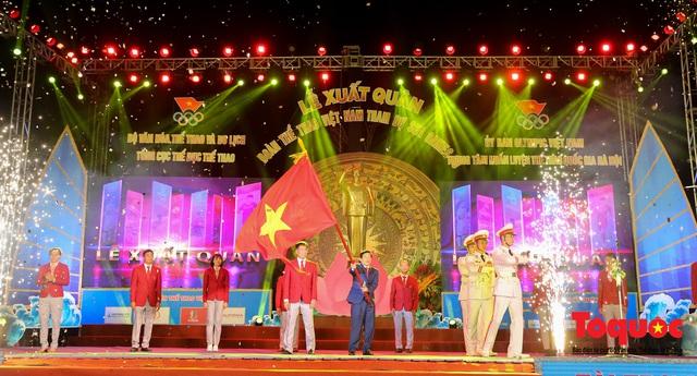 Chùm ảnh: Lễ xuất quân Đoàn Thể thao Việt Nam tham dự SEA Games 30 - Ảnh 8.