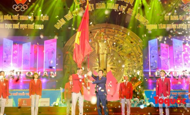 Chùm ảnh: Lễ xuất quân Đoàn Thể thao Việt Nam tham dự SEA Games 30 - Ảnh 9.