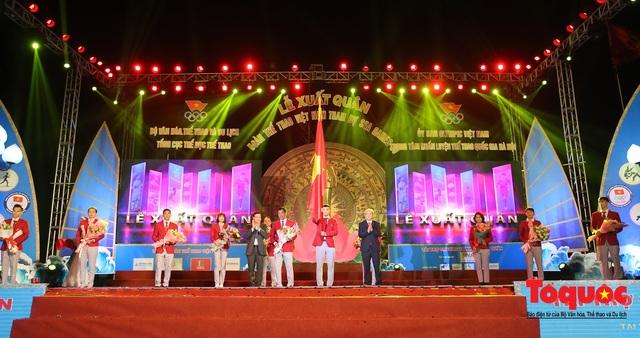 Chùm ảnh: Lễ xuất quân Đoàn Thể thao Việt Nam tham dự SEA Games 30 - Ảnh 11.
