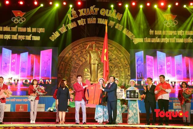 Chùm ảnh: Lễ xuất quân Đoàn Thể thao Việt Nam tham dự SEA Games 30 - Ảnh 13.