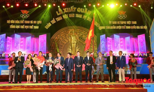 Chùm ảnh: Lễ xuất quân Đoàn Thể thao Việt Nam tham dự SEA Games 30 - Ảnh 14.