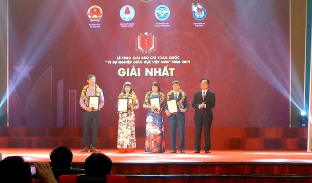 """Trao Giải báo chí """"Vì sự nghiệp Giáo dục Việt Nam"""" năm 2019, chính thức phát động Giải năm 2020 - Ảnh 1."""