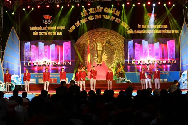 Chùm ảnh: Lễ xuất quân Đoàn Thể thao Việt Nam tham dự SEA Games 30 - Ảnh 12.