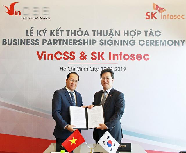 VinCSS ký thỏa thuận hợp tác an ninh mạng với SK Infosec - Ảnh 1.