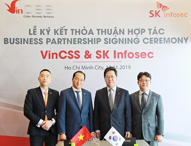 VinCSS ký thỏa thuận hợp tác an ninh mạng với SK Infosec - Ảnh 2.