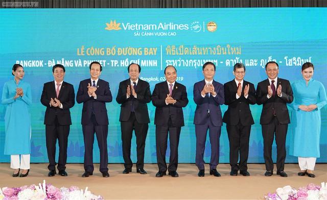 Thủ tướng dự khai trương đường bay mới của Vietnam Airlines và Vietjet tại Thái Lan - Ảnh 1.