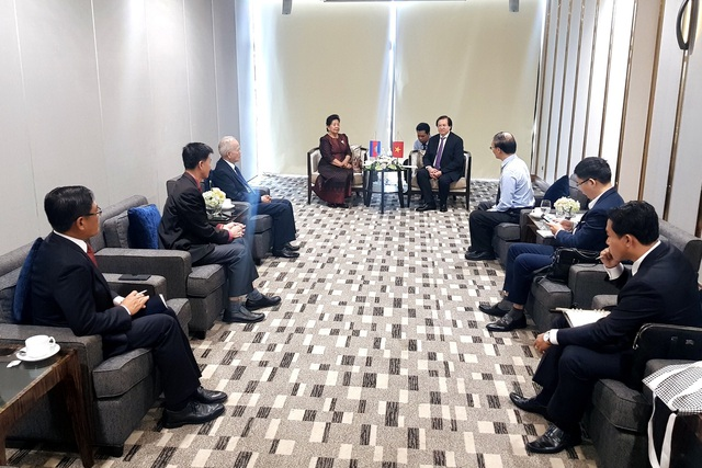 Thứ trưởng Tạ Quang Đông tiếp Quốc Vụ khanh Bộ Văn hóa và Nghệ thuật Camphuchia - Ảnh 1.