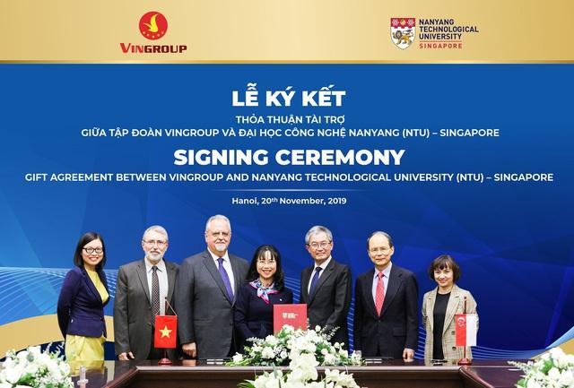 Vingroup tài trợ 5 triệu đô la Singapore cấp học bổng cho thạc sĩ, tiến sĩ người Việt tại ĐH Công nghệ Namyang - Ảnh 1.