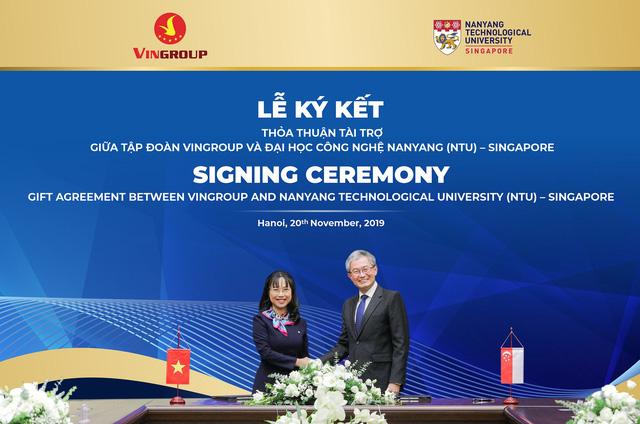 Vingroup tài trợ 5 triệu đô la Singapore cấp học bổng cho thạc sĩ, tiến sĩ người Việt tại ĐH Công nghệ Namyang - Ảnh 2.