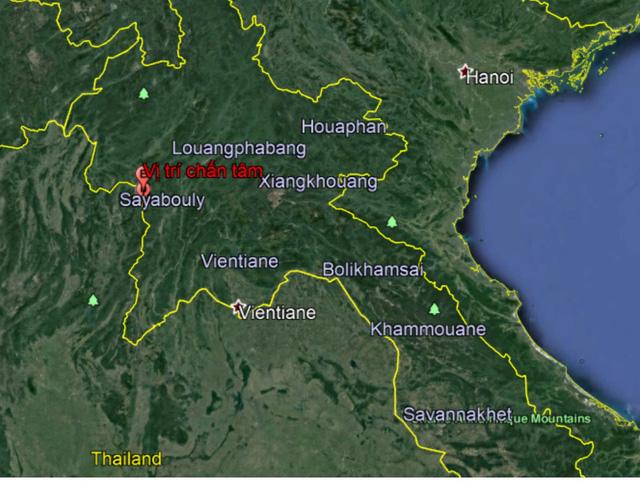 Động đất tại Sayabouly, Lào, Hà Nội xuất hiện rung chấn  - Ảnh 1.