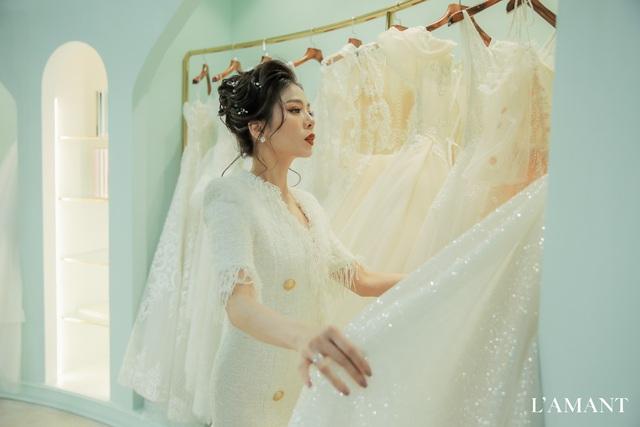 Lệ Quyên bất ngờ trình diễn thời trang tại show thời trang áo cưới L'amant - Ảnh 3.