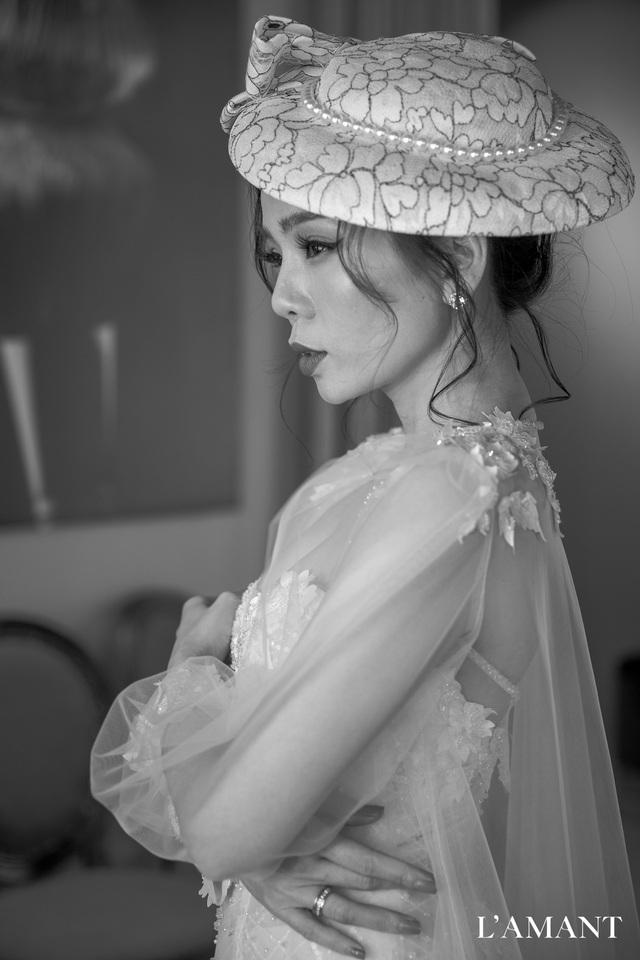 Lệ Quyên bất ngờ trình diễn thời trang tại show thời trang áo cưới L'amant - Ảnh 4.