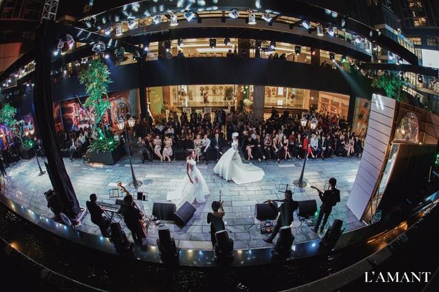 Lệ Quyên bất ngờ trình diễn thời trang tại show thời trang áo cưới L'amant - Ảnh 11.