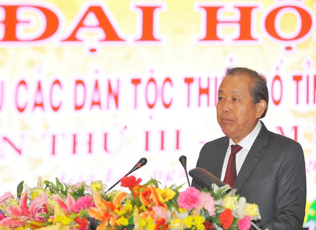 Phó Thủ tướng Trương Hòa Bình dự Đại hội đại biểu các dân tộc thiểu số tại Gia Lai - Ảnh 1.
