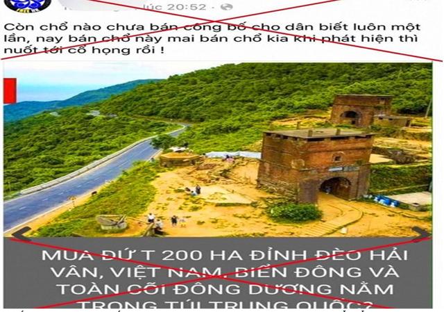 Thông tin bán 200 ha đất đỉnh đèo Hải Vân cho người Trung Quốc là sai sự thật - Ảnh 1.