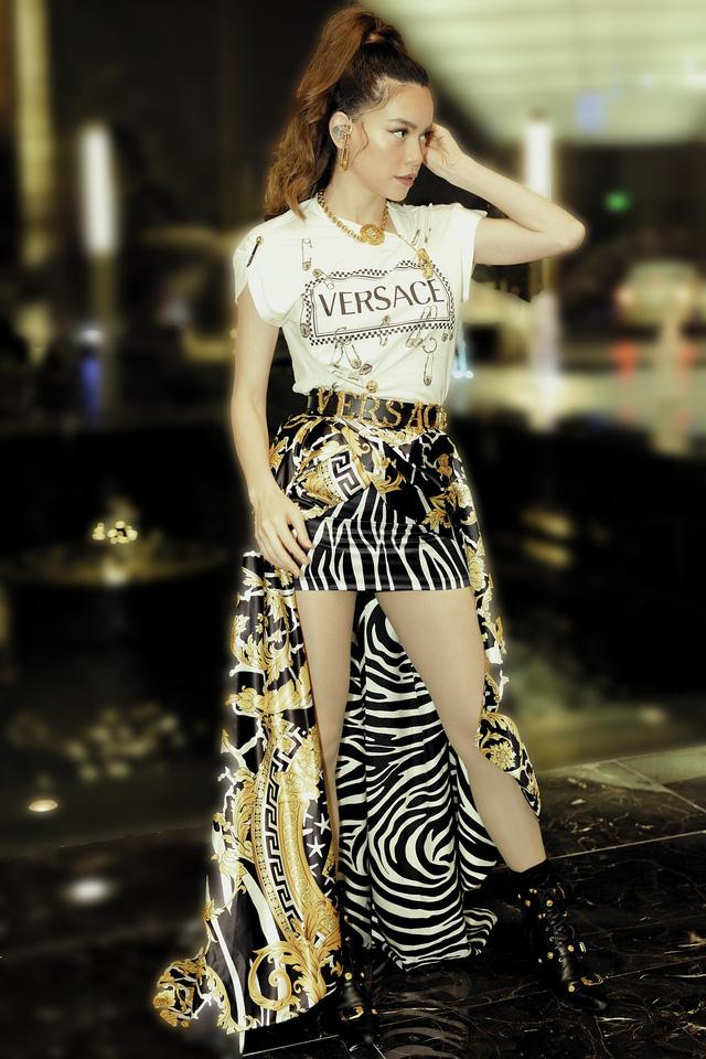 Hồ Ngọc Hà đụng hàng váy hiệu siêu mẫu Gigi Hadid - Ảnh 3.