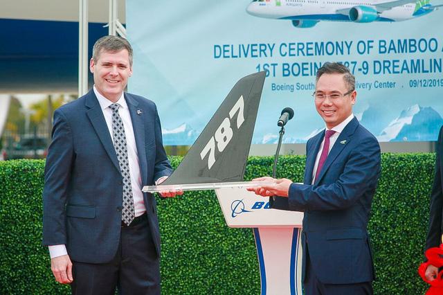 Máy bay Boeing 787-9 Dreamliner đầu tiên cất cánh về với đội bay của Bamboo Airways - Ảnh 3.