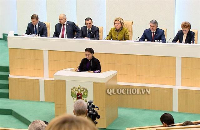 Phát biểu của Chủ tịch Quốc hội tại phiên họp toàn thể Hội đồng Liên bang Nga - Ảnh 3.