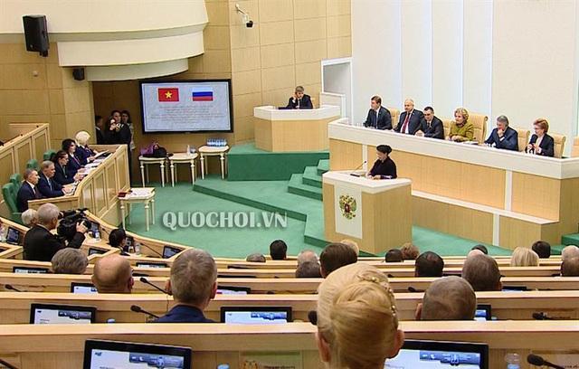 Phát biểu của Chủ tịch Quốc hội tại phiên họp toàn thể Hội đồng Liên bang Nga - Ảnh 2.