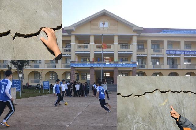 Gia Lai: Trường học vừa mới đưa vào sử dụng đã  bị hư hỏng - Ảnh 1.