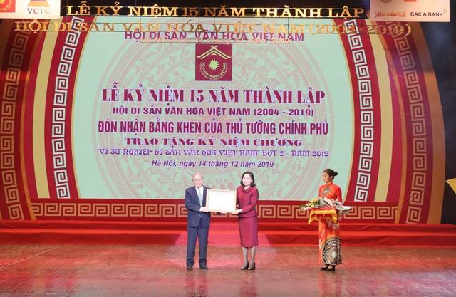 Hội Di sản Văn hóa Việt Nam đón nhận Bằng khen của Thủ tướng Chính phủ  - Ảnh 1.