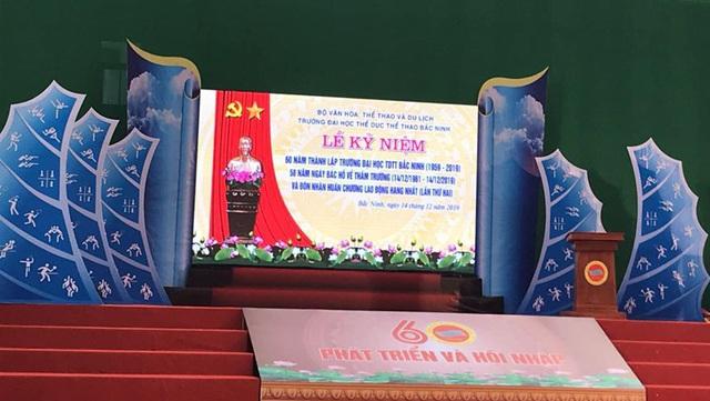 Trường ĐH Thể dục Thể thao Bắc Ninh kỷ niệm 60 năm thành lập và đón nhận Huân chương Lao động hạng Nhất - Ảnh 2.