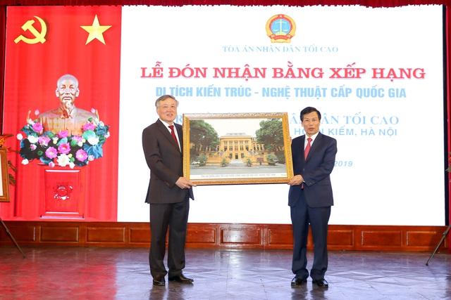 Trụ sở Tòa án nhân dân tối cao nhận Bằng xếp hạng di tích Kiến trúc - Nghệ thuật cấp Quốc gia - Ảnh 3.