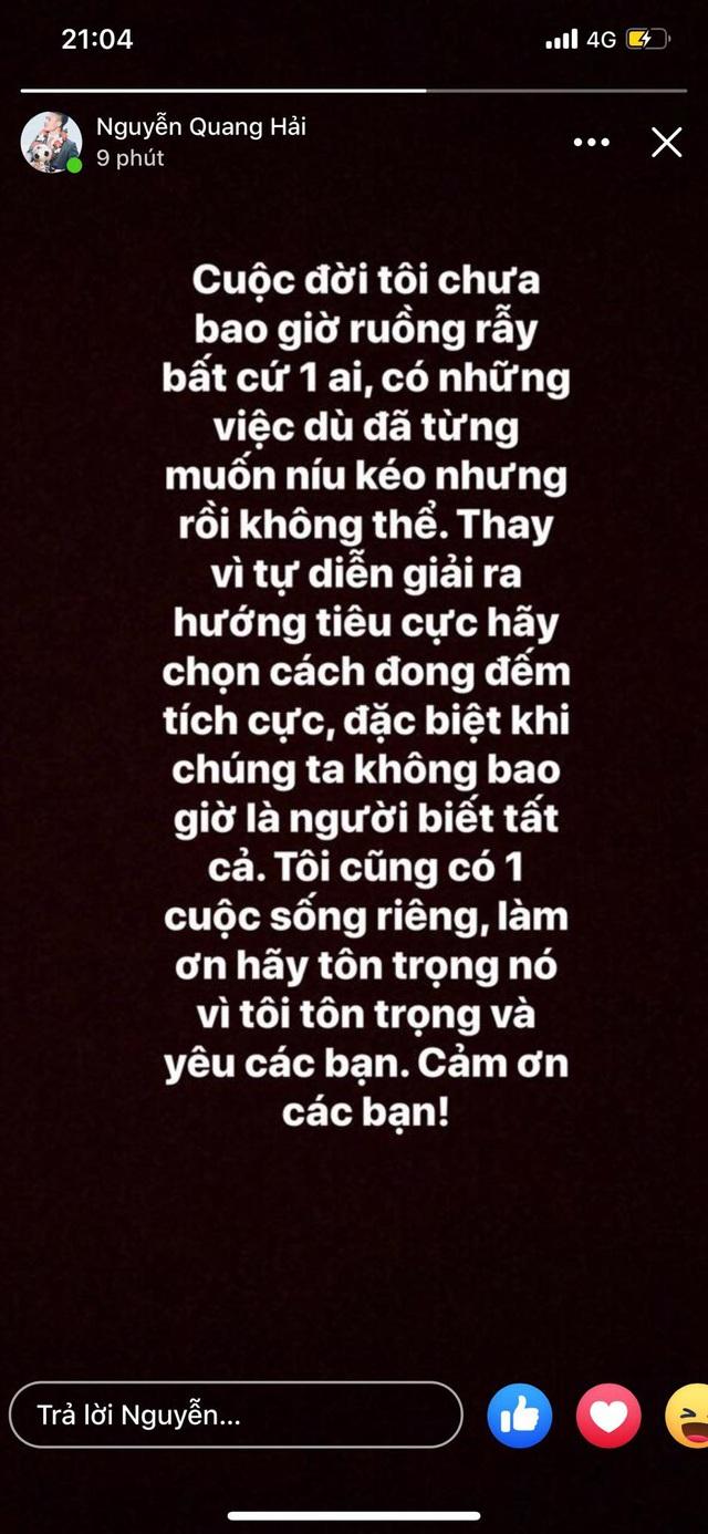 Quang Hải lên tiếng trước nghi án có bạn gái mới, ruồng bỏ Nhật Lê - Ảnh 1.