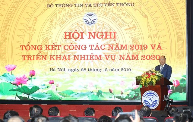 Hình ảnh Thủ tướng Nguyễn Xuân Phúc dự Hội nghị tổng kết ngành Thông tin và Truyền thông - Ảnh 12.